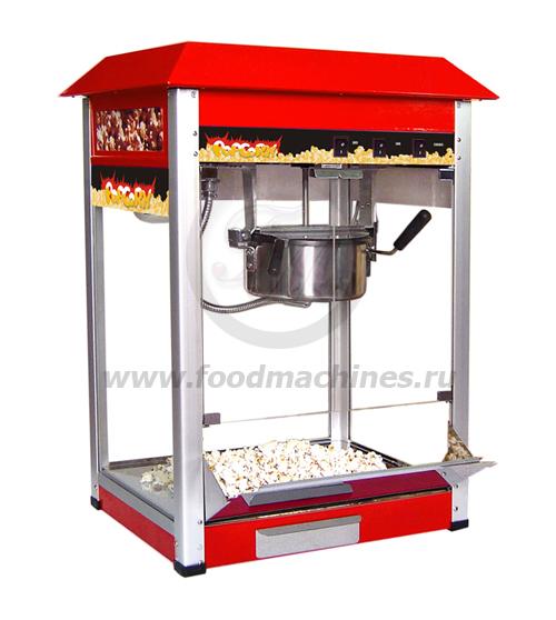 Аппарат для приготовления попкорна красный