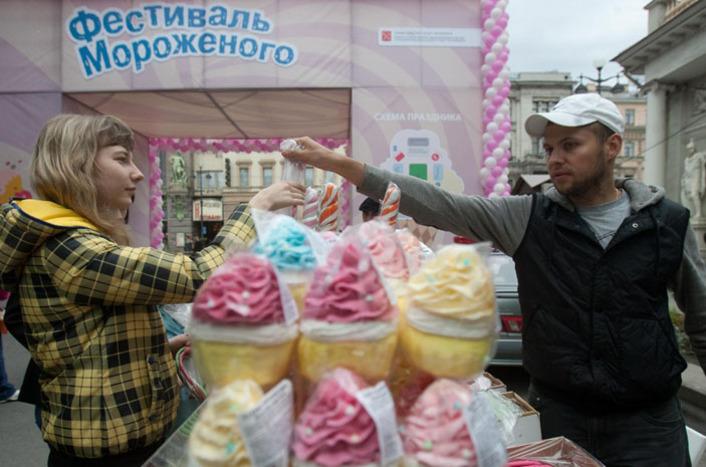 праздник мороженого в Питере